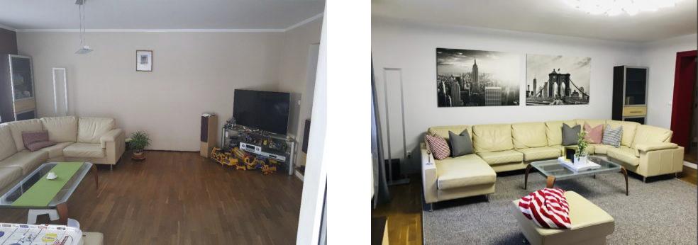 Levná proměna interiéru krok zakrokem - Před apo.