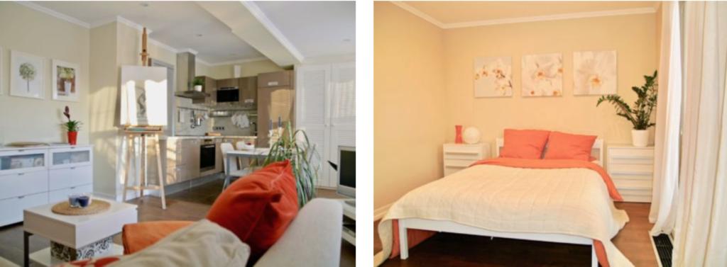 zařízený obývací pokoj aložnice