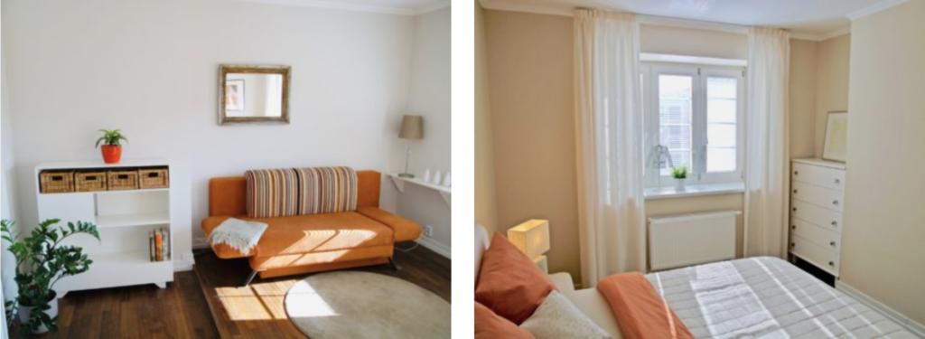ložnice amalý obývák skuchyní